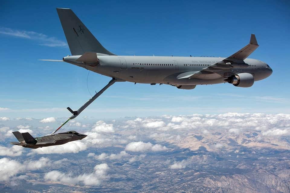 Airbus A330 MRTT. RAAF KC-30A tanker USAF F-35A Lightning II - flyvere.dk