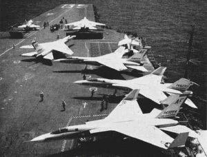 North American A-5 Vigilante ombord USS Enterprise 1962. - flyvere.dk