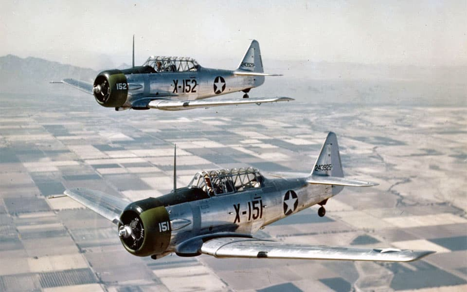 North American Aviation T-6 Texan - flyvere.dk