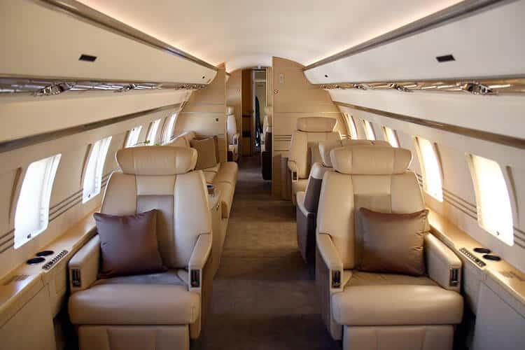Bombardier Global Express kabine - flyvere.dk