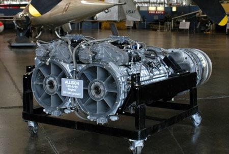 Convair R3Y Allison T40 turboprop motor - flyvere.dk